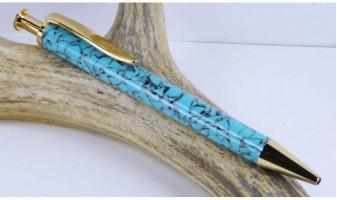 Southwestern Blue Longwood Pen