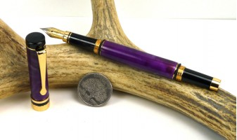 Deep Purple Ameroclassic Fountain Pen