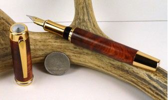 Amboyna Burl Chairman Fountain Pen