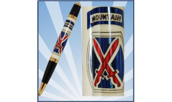 10th Mountain Division Inlay Pen