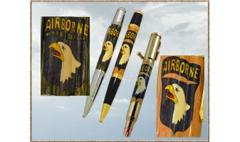 101st Airborne Inlay Pen