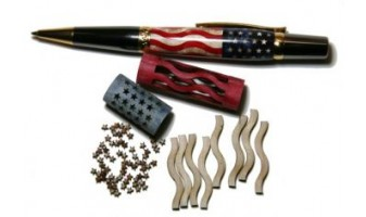American Flag  Inlay Pen