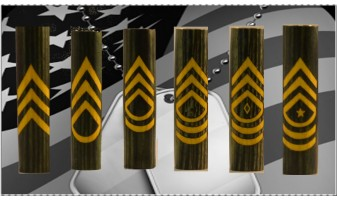 Army Enlisted Ranks Inlay Pen