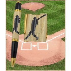 Baseball Batter Inlay Pen