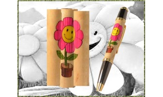 Happy Flower Inlay Pen