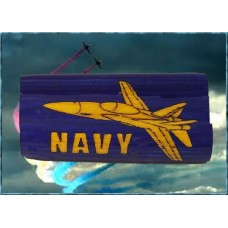 Navy Jet Inlay Pen