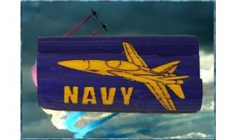 Navy Jet Inlay Pen