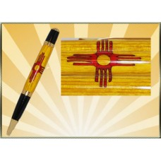 New Mexico Flag Inlay Pen