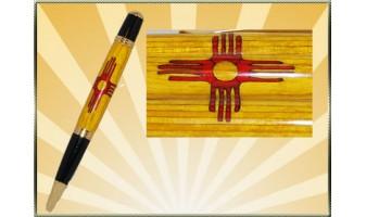 New Mexico Flag Inlay Pen