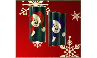 Peeking Snowman Inlay Pen