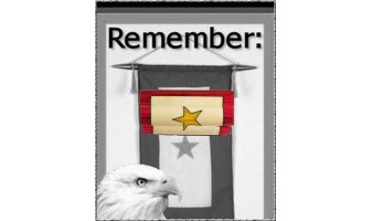 Gold Star Remembrance Inlay Pen
