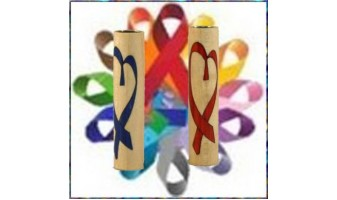 Awareness Support Ribbon Inlay Pen