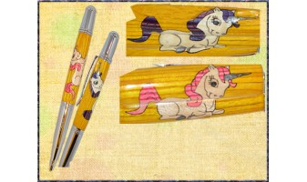 Magical Unicorn Inlay Pen