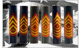 Marine Enlisted Ranks Inlay Pen