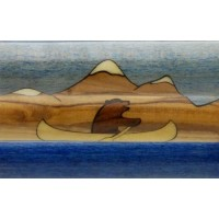 Canoeing Bear Inlay Pen