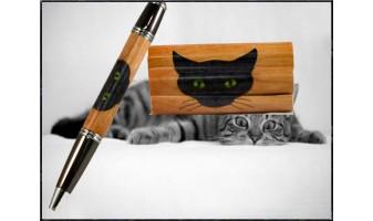 Cat Inlay Pen