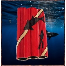 Diver/Shark Inlay Pen