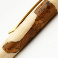 Golden Retriever Inlay Pen