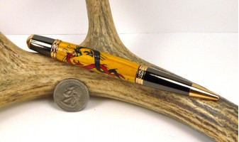 Yellow Dragon Inlay Pen