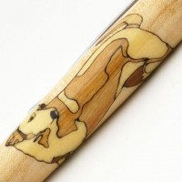 Yellow Labrador Inlay Pen
