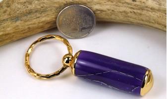 Purple Mesh Pill Case