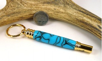 Turquoise Secret Compartment Whistle