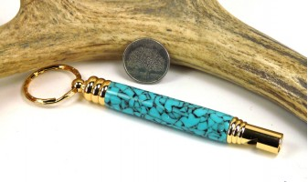 Southwestern Green Secret Compartment Whistle