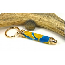 Blue Yellow Swirl Toolkit Key Chain