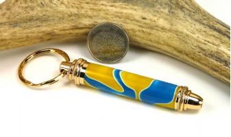 Blue Yellow Swirl Toolkit Key Chain
