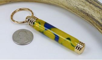 Blue Gold Swirl Toothpick Holder