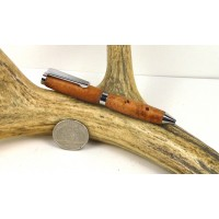 Cherry Burl Credit Card Pen