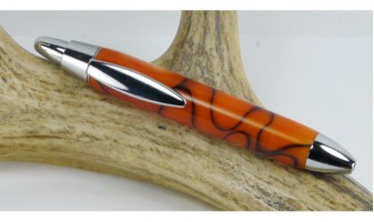 Orange Velvet Mini Click Pen