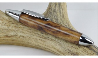 Tigerwood Burl Mini Click Pen