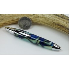 Blue Sea Spray Mini Click Pen