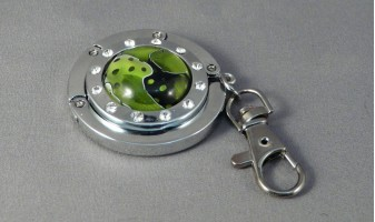 Lime Mesh Purse Hanger
