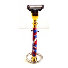 Patriotic Swirl Razor Handle