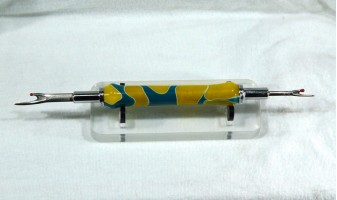Blue Yellow Swirl Seam Ripper