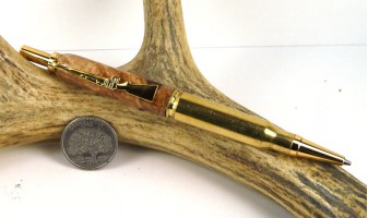 Maple Burl .308 Rifle Cartridge Pencil