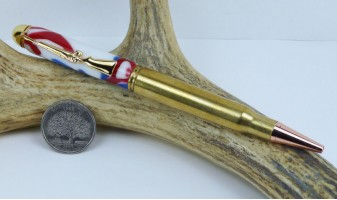 4th of July Camo 30-06 Rifle Cartridge Pen