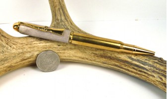 Deer Antler 30-06 Rifle Cartridge Pen