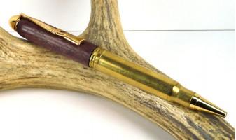 PurpleHeart .338 Winchester magnum Rifle Cartridge Pen