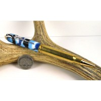 Ocean Camo .338 Winchester magnum Rifle Cartridge Pen