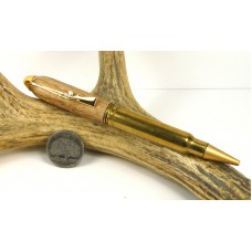 Hickory .338 Winchester magnum Rifle Cartridge Pen