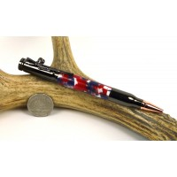 Patriotic Confetti Bolt Action Pen