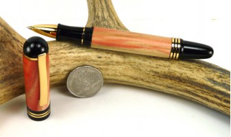 Flame Box Elder Apollo Rollerball Pen