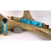 Turquoise Classic Elite Rollerball Pen