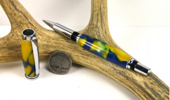 Blue Gold Swirl Jr Gentleman Rollerball Pen
