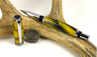 Yellow Black Swirl Jr Gentleman Rollerball Pen