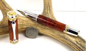 Amboyna Burl Majestic Rollerball Pen