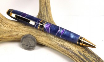 Blue Purple Swirl Cigar Pen